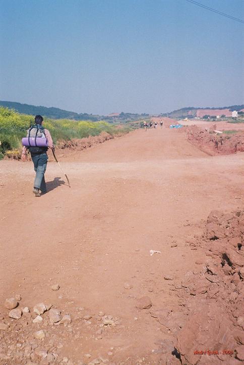 A paisagem mudando, entre Navarrete e Nájera