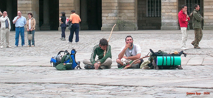 Domênico, eu e Pipa vendo a Catedral de outro ângulo